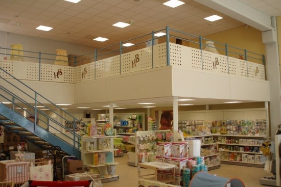 Plateforme mezzanine pour commerces et espaces de loisirs